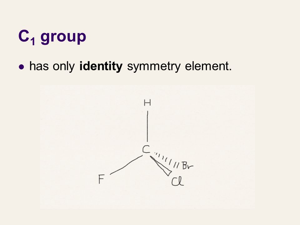 C1 group has only identity symmetry element.