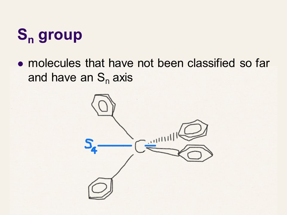 Sn group molecules that have not been classified so far and have an Sn axis