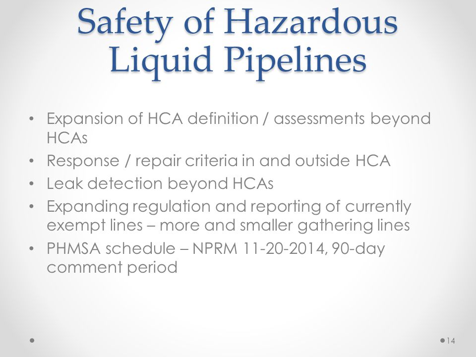 Safety of Hazardous Liquid Pipelines