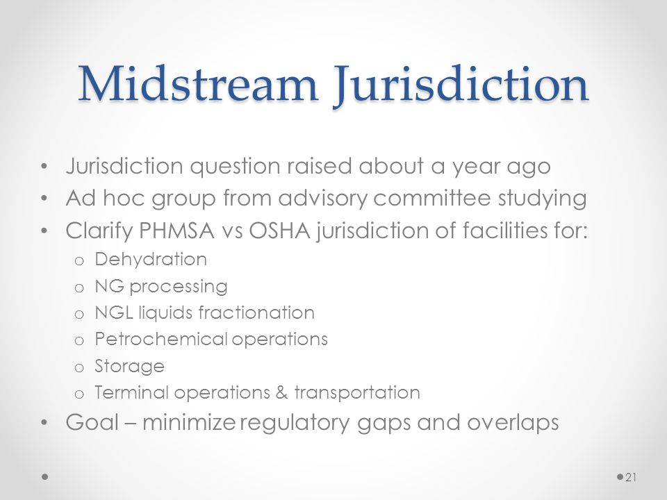 Midstream Jurisdiction