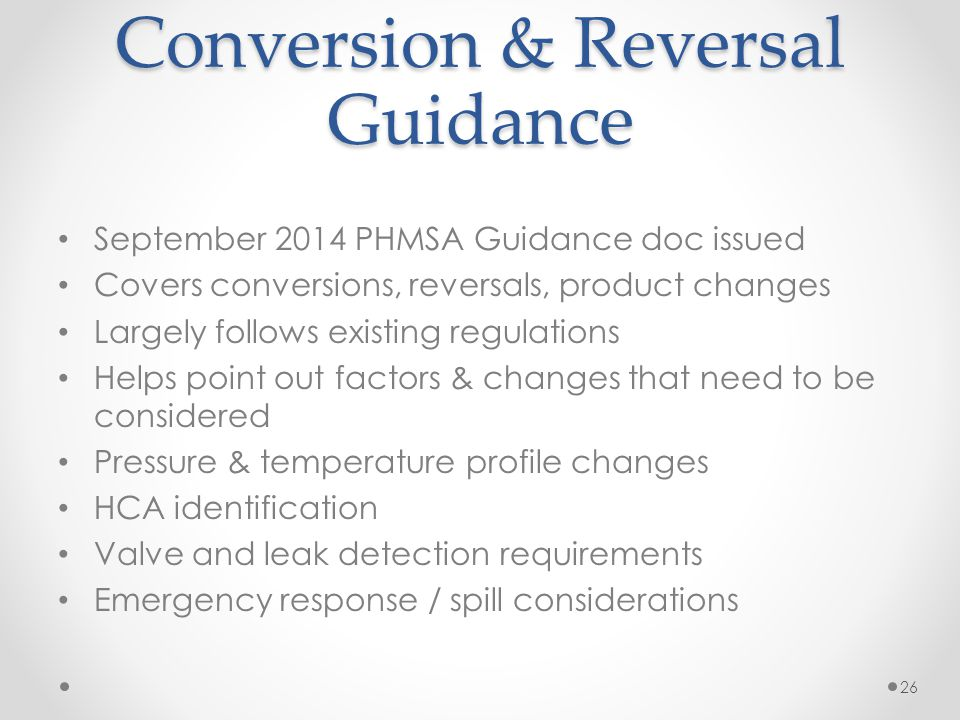 Conversion & Reversal Guidance