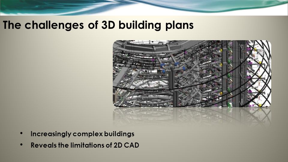 The challenges of 3D building plans