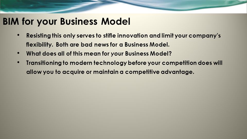BIM for your Business Model