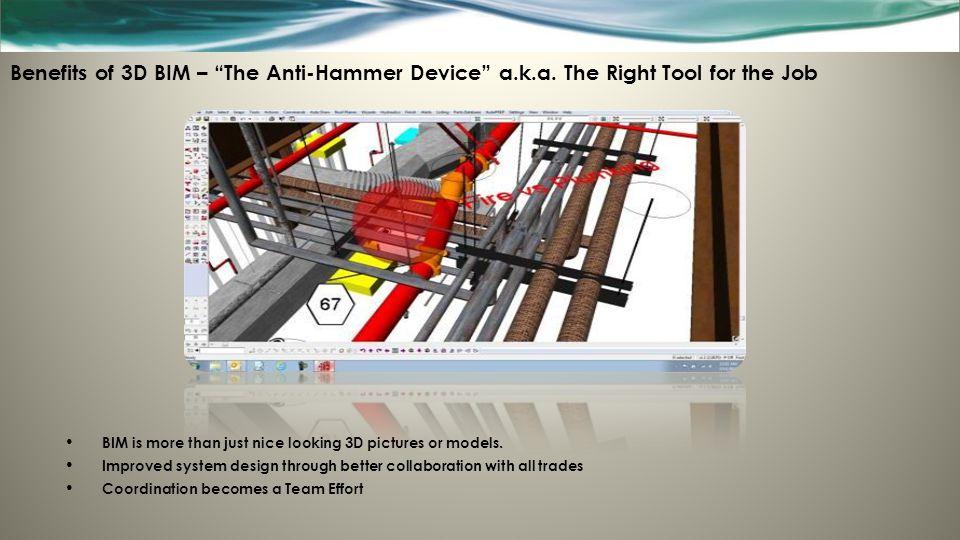 Benefits of 3D BIM – The Anti-Hammer Device a. k. a