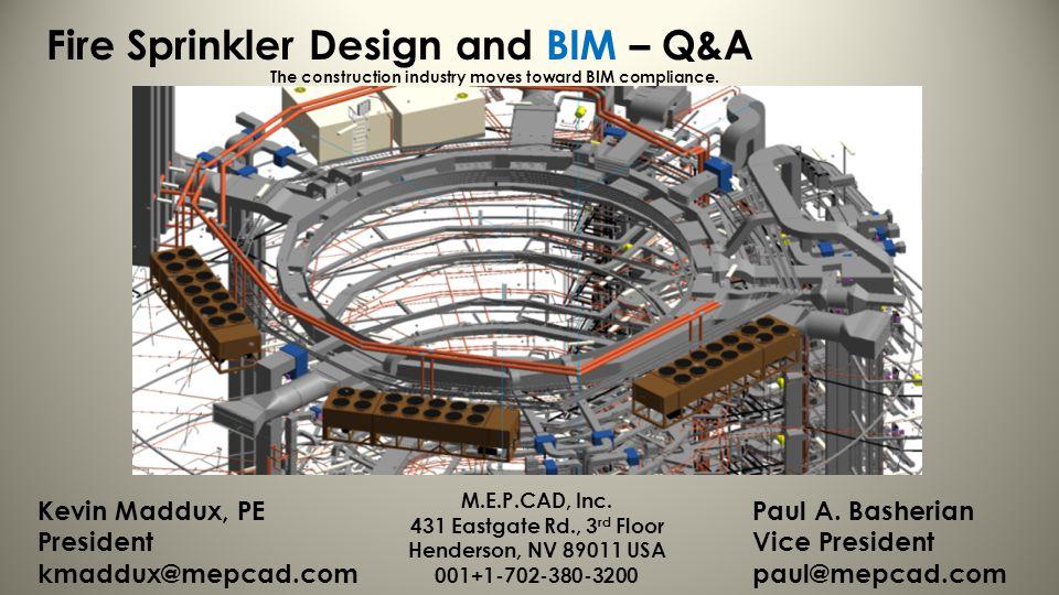 Fire Sprinkler Design and BIM – Q&A