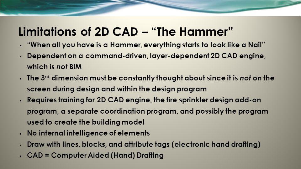 Limitations of 2D CAD – The Hammer