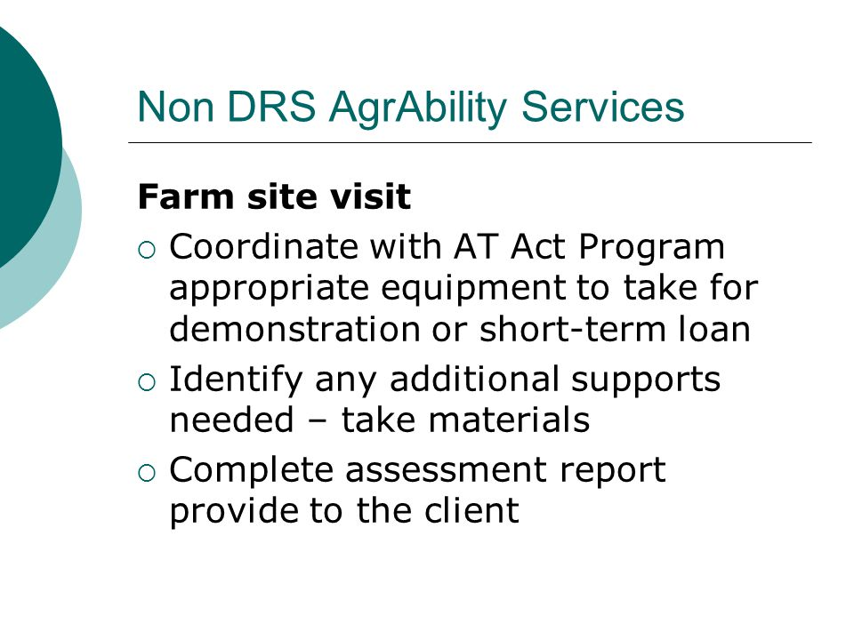 Non DRS AgrAbility Services