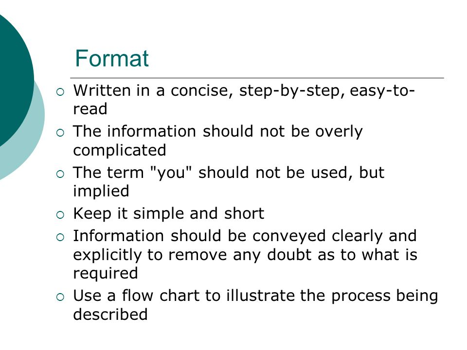 Format Written in a concise, step-by-step, easy-to-read