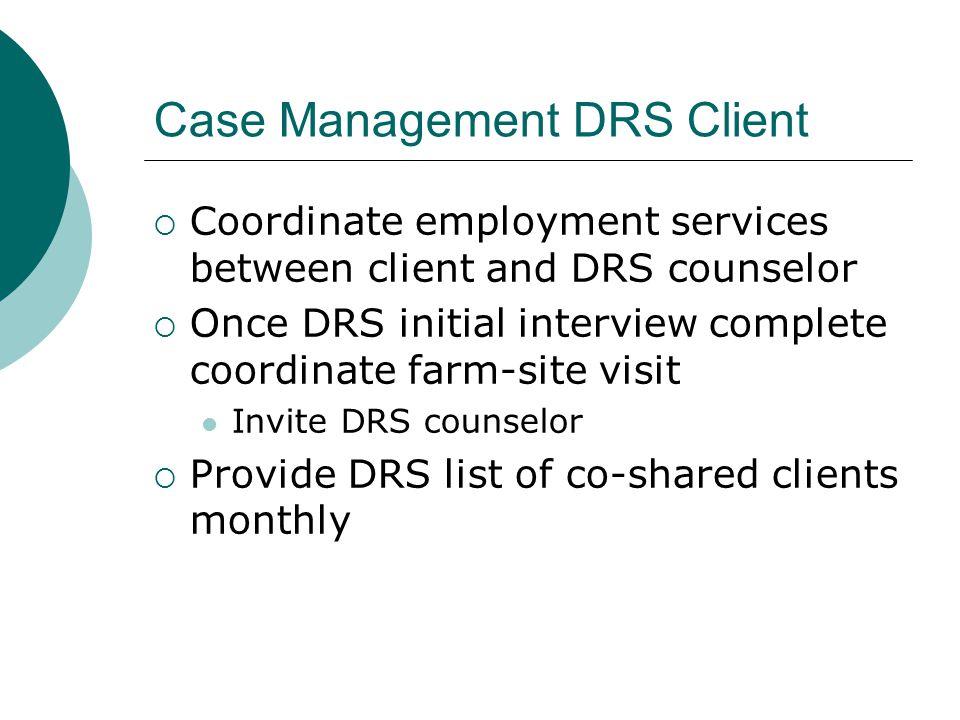 Case Management DRS Client