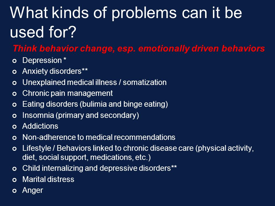 What kinds of problems can it be used for
