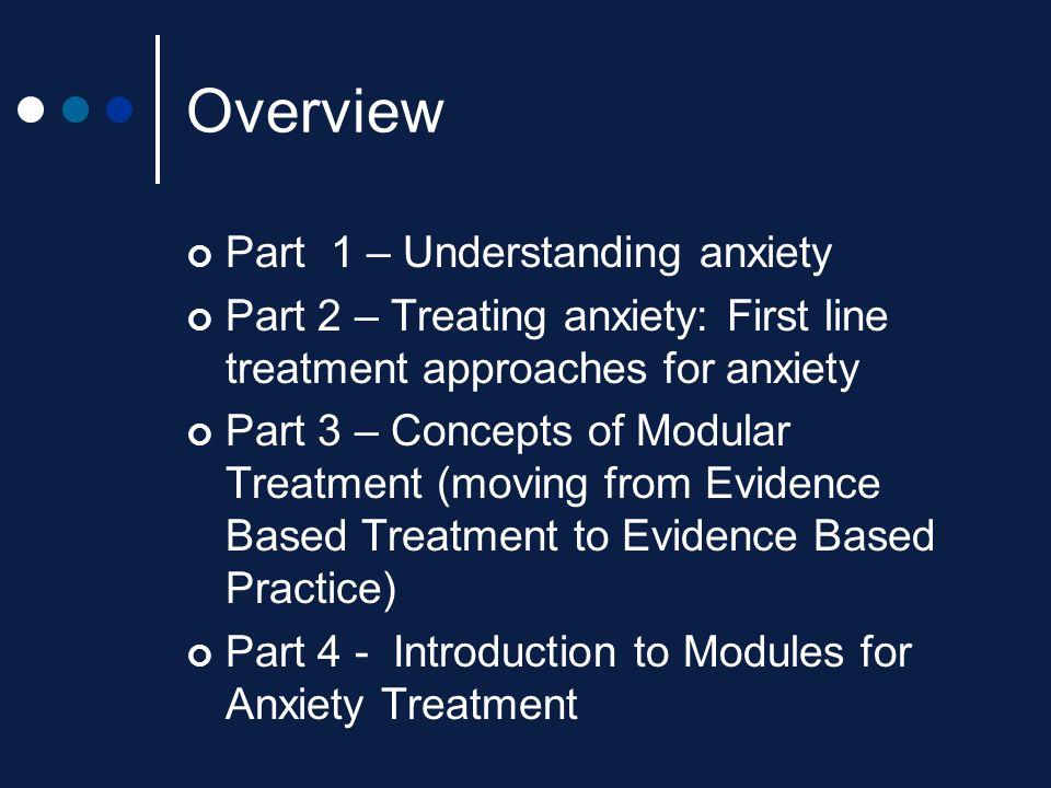 Overview Part 1 – Understanding anxiety