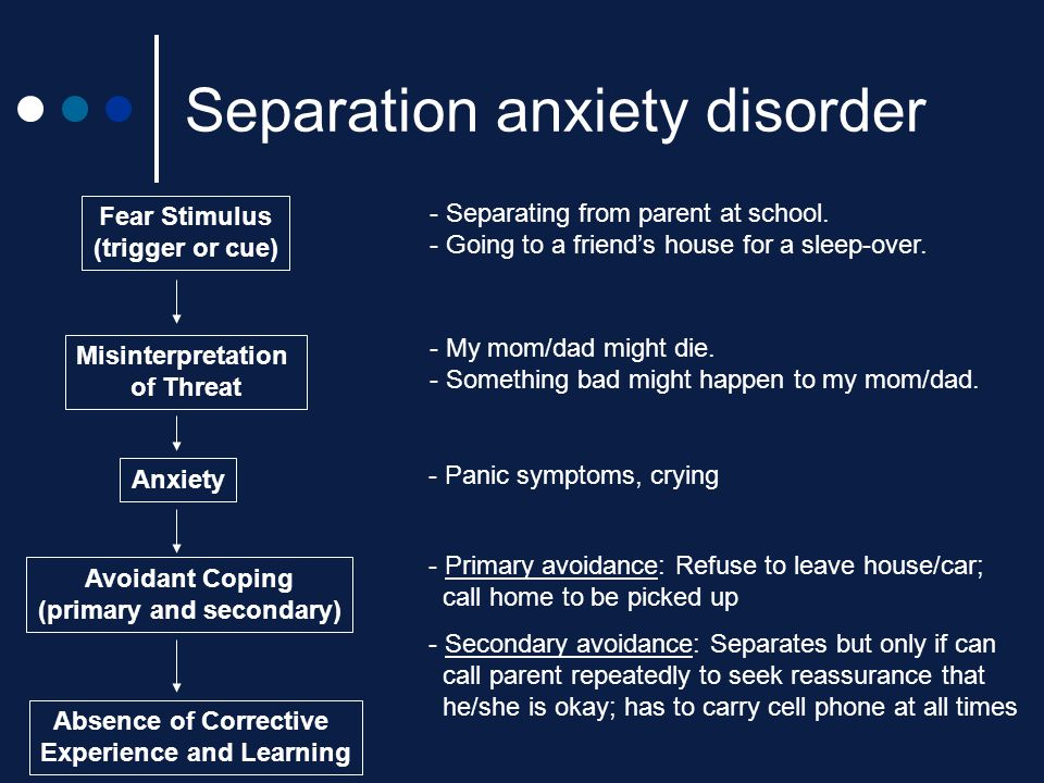 separation anxiety disorder essays Psych 3018 essay - download as word doc (doc / docx), pdf file (pdf), text file (txt) or read online an essay on stress and anxiety for the uni psyc3018.