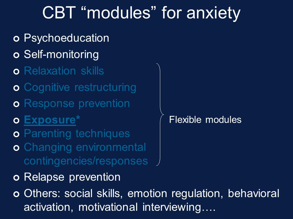 CBT modules for anxiety