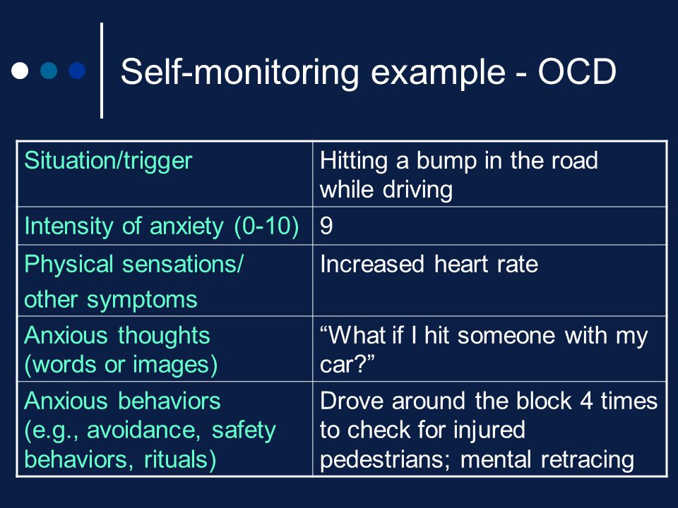 Self-monitoring example - OCD