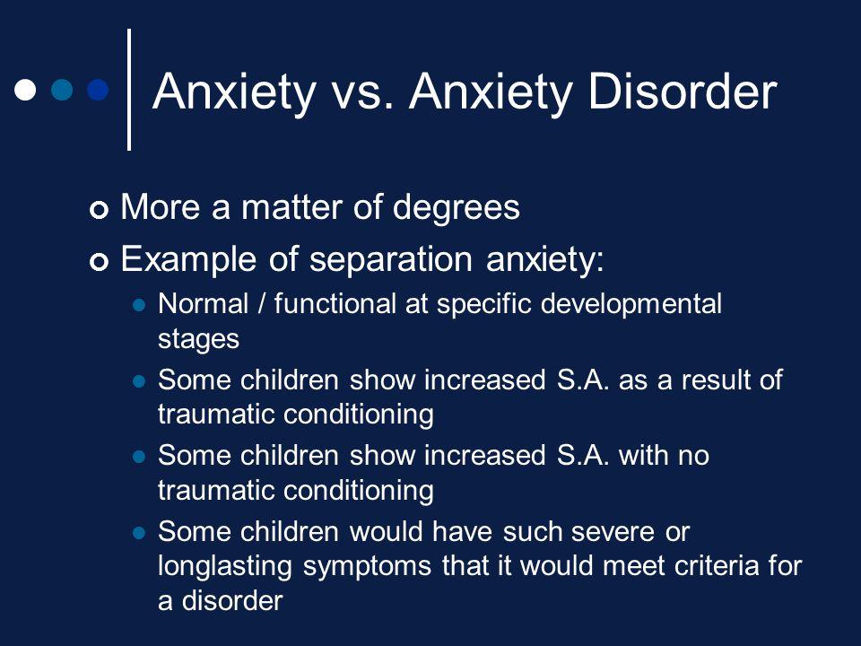 Anxiety vs. Anxiety Disorder