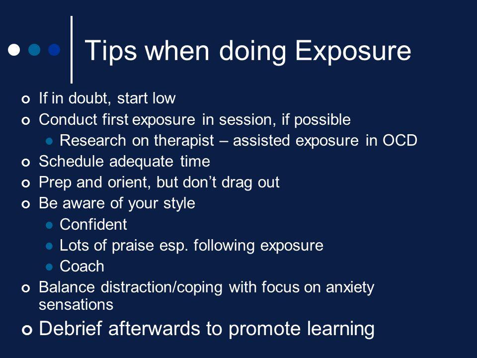 Tips when doing Exposure
