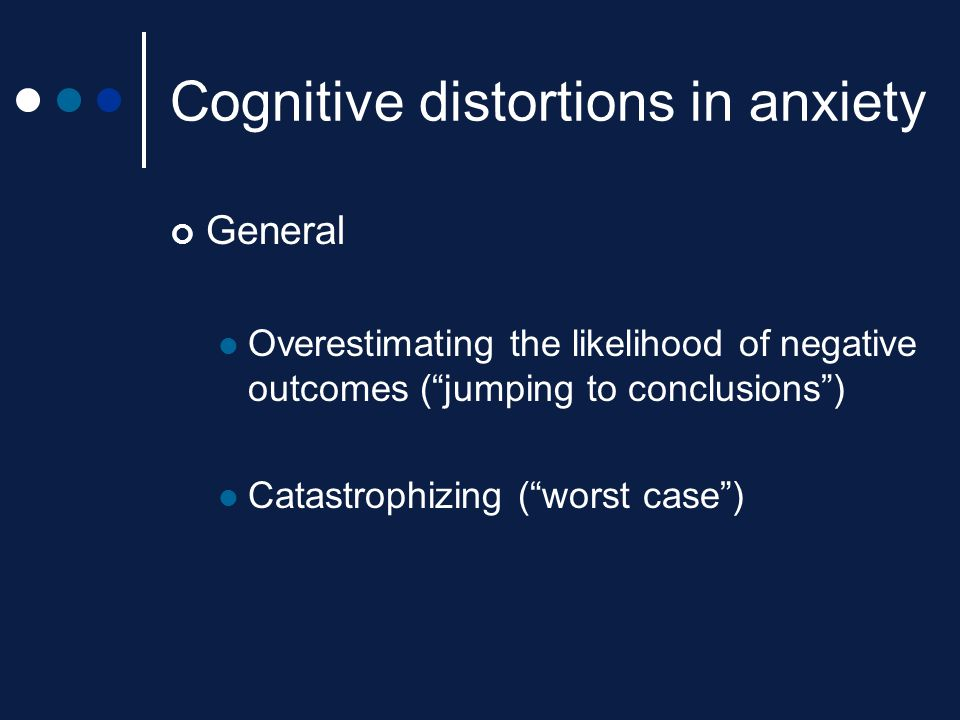 Cognitive distortions in anxiety