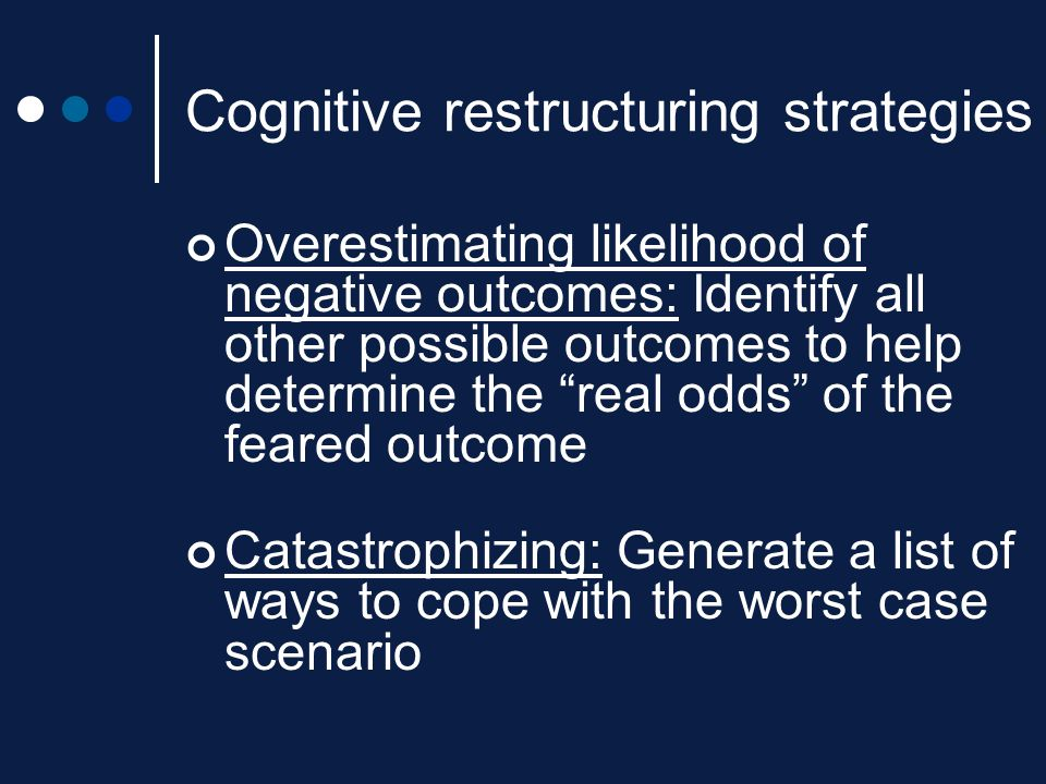 Cognitive restructuring strategies