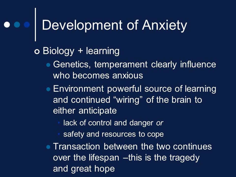Development of Anxiety
