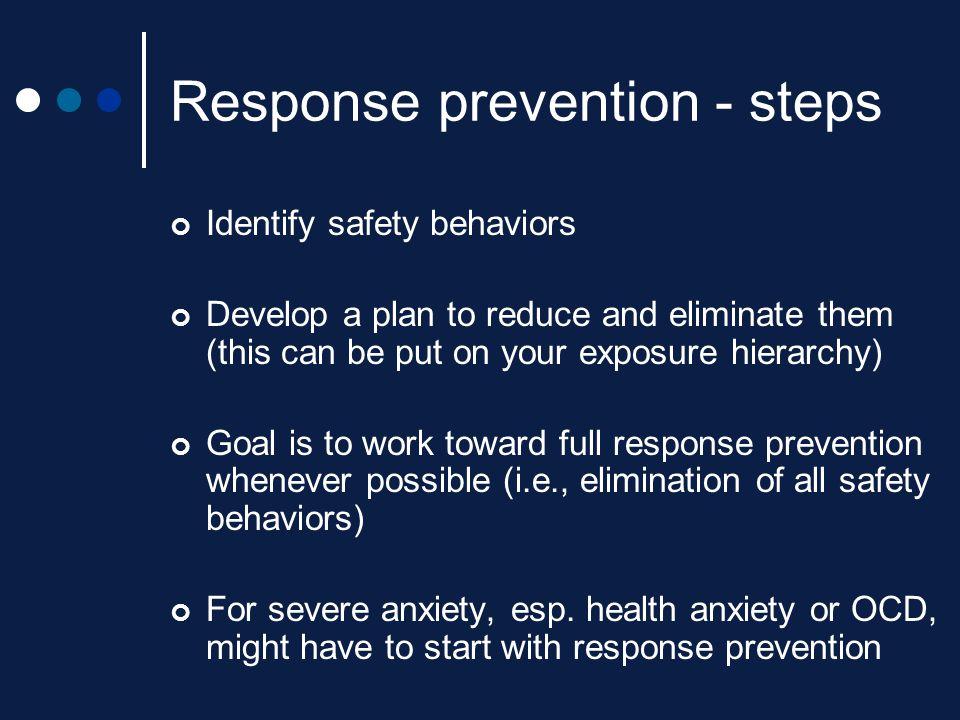 Response prevention - steps