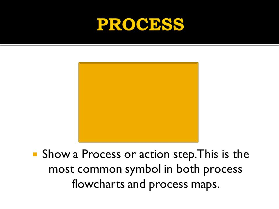 PROCESS Show a Process or action step.