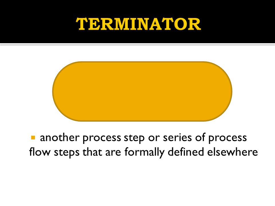 TERMINATOR another process step or series of process flow steps that are formally defined elsewhere