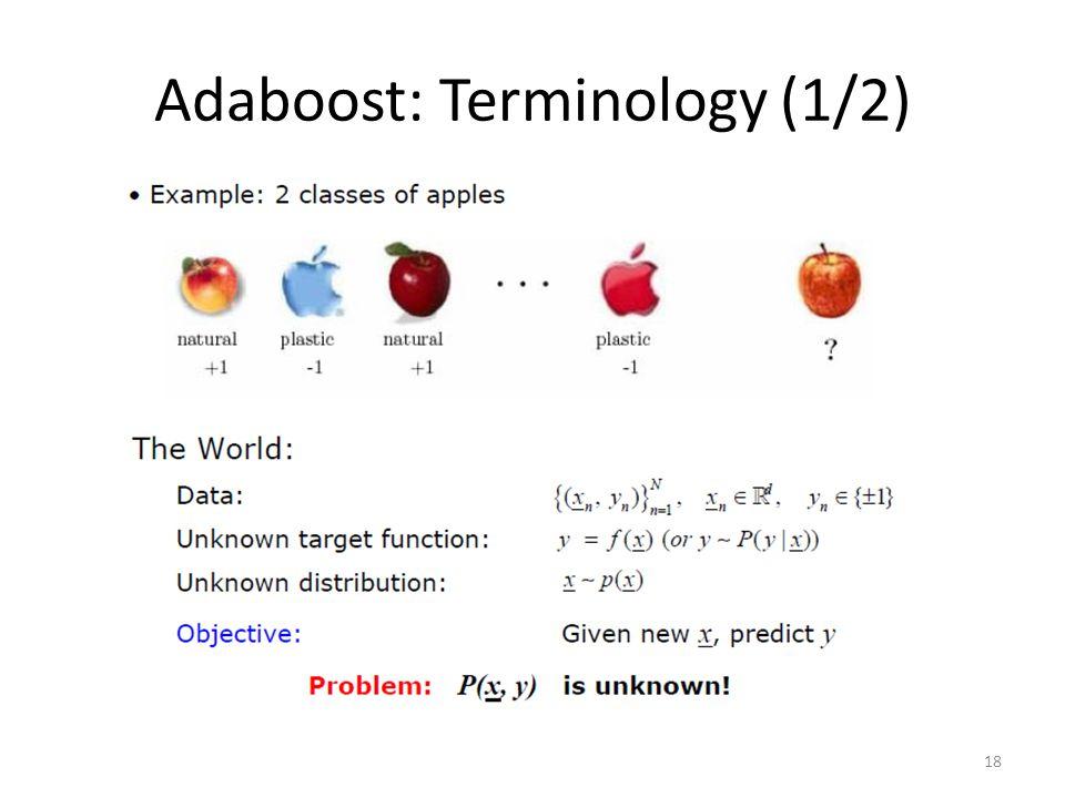 Adaboost: Terminology (1/2)