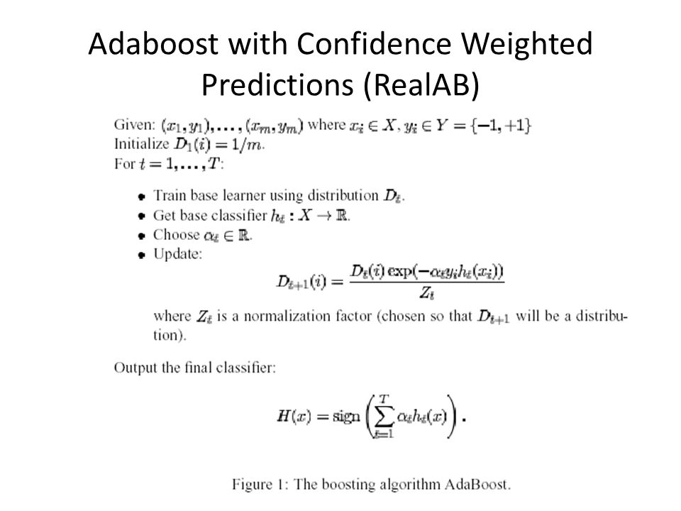 Adaboost with Confidence Weighted Predictions (RealAB)