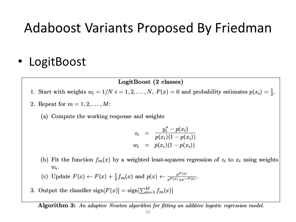 Adaboost Variants Proposed By Friedman