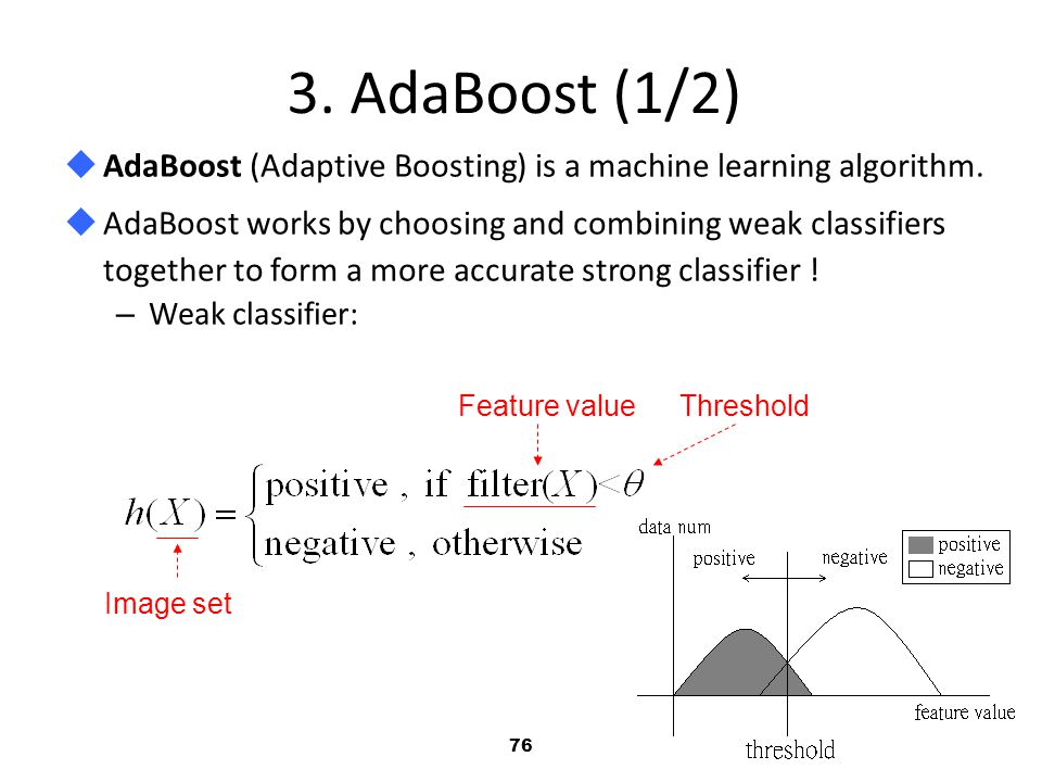 3. AdaBoost (1/2) AdaBoost (Adaptive Boosting) is a machine learning algorithm.