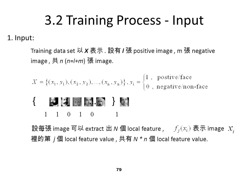 3.2 Training Process - Input