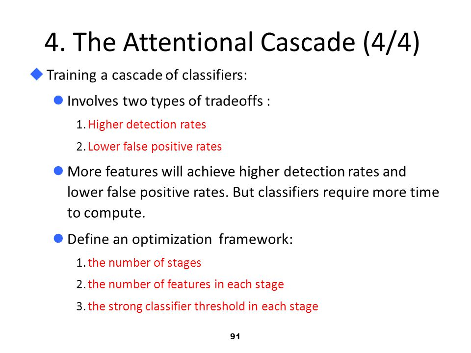 4. The Attentional Cascade (4/4)