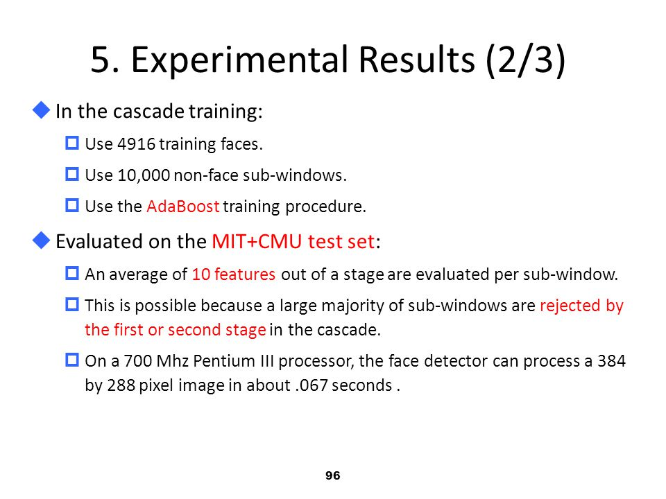 5. Experimental Results (2/3)