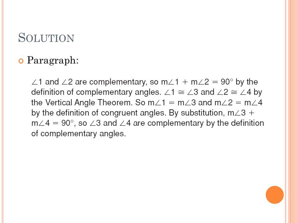 Solution Paragraph: