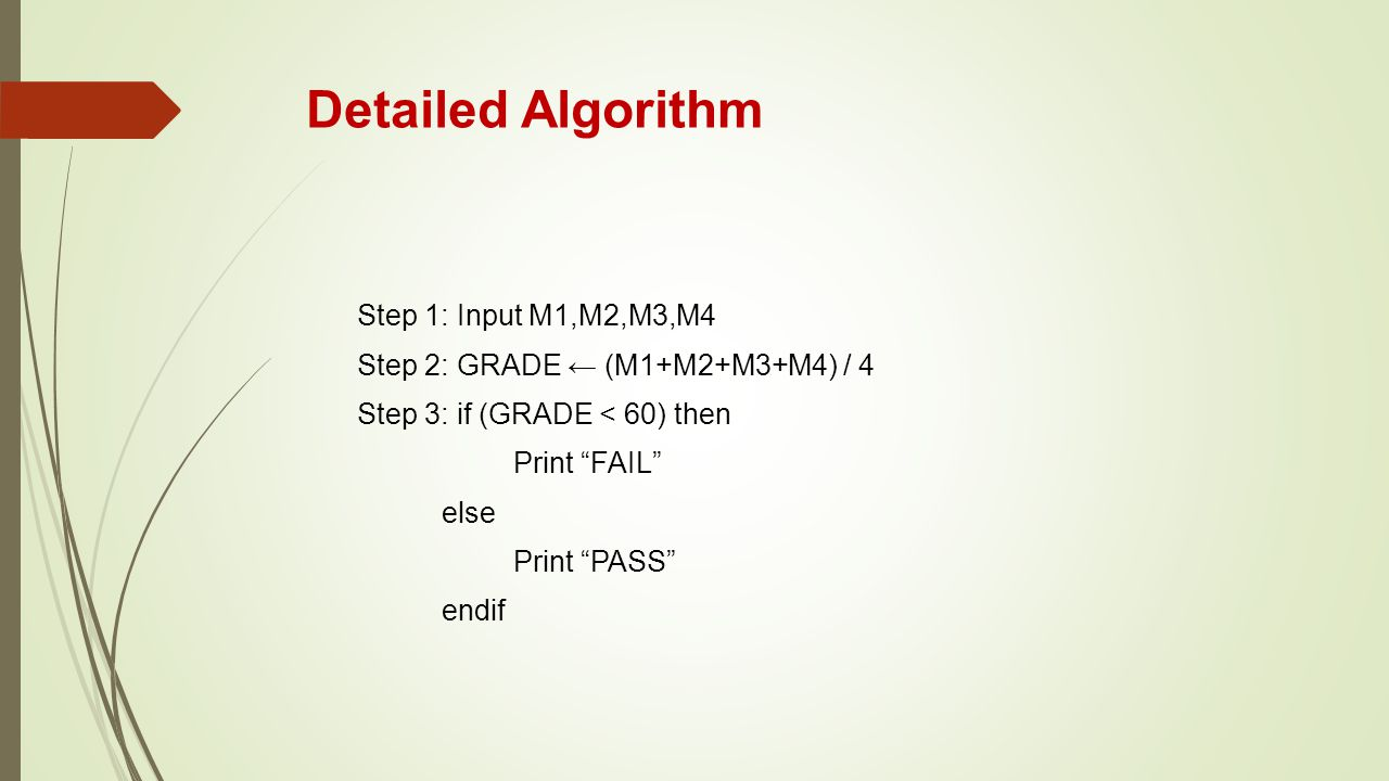 Detailed Algorithm Step 1: Input M1,M2,M3,M4