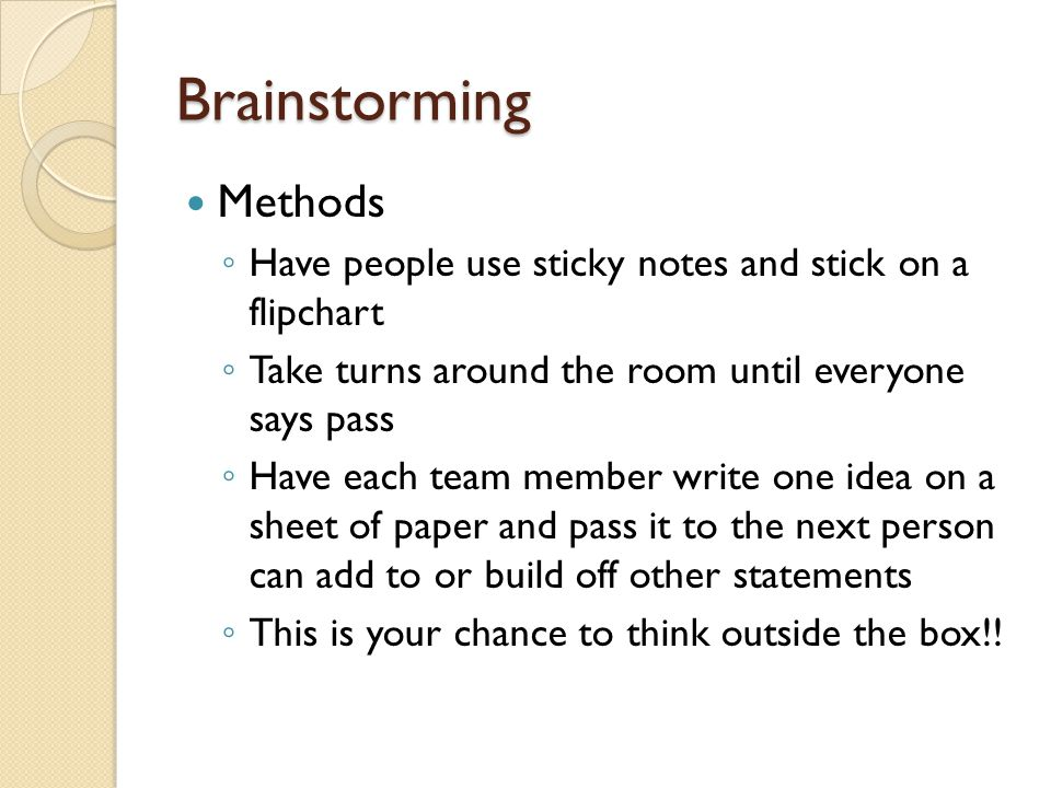 Brainstorming Methods