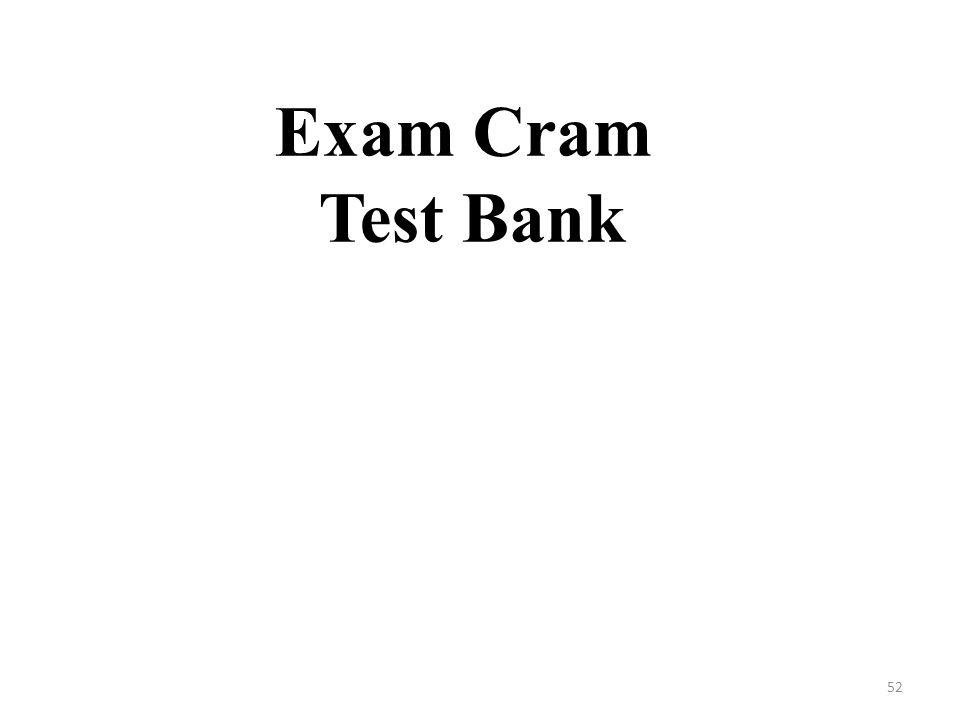 Exam Cram Test Bank