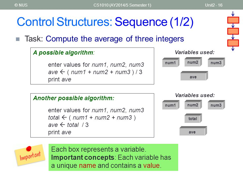 Control Structures: Sequence (1/2)