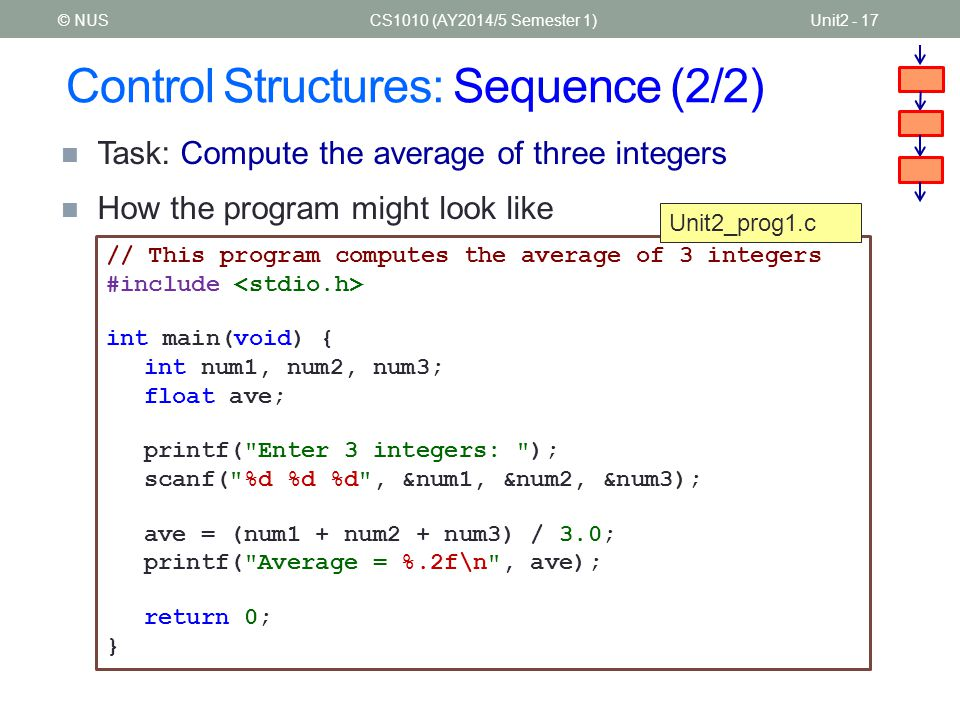 Control Structures: Sequence (2/2)