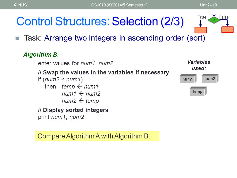 Control Structures: Selection (2/3)