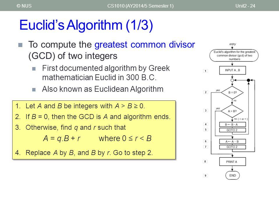 Euclid's Algorithm (1/3)