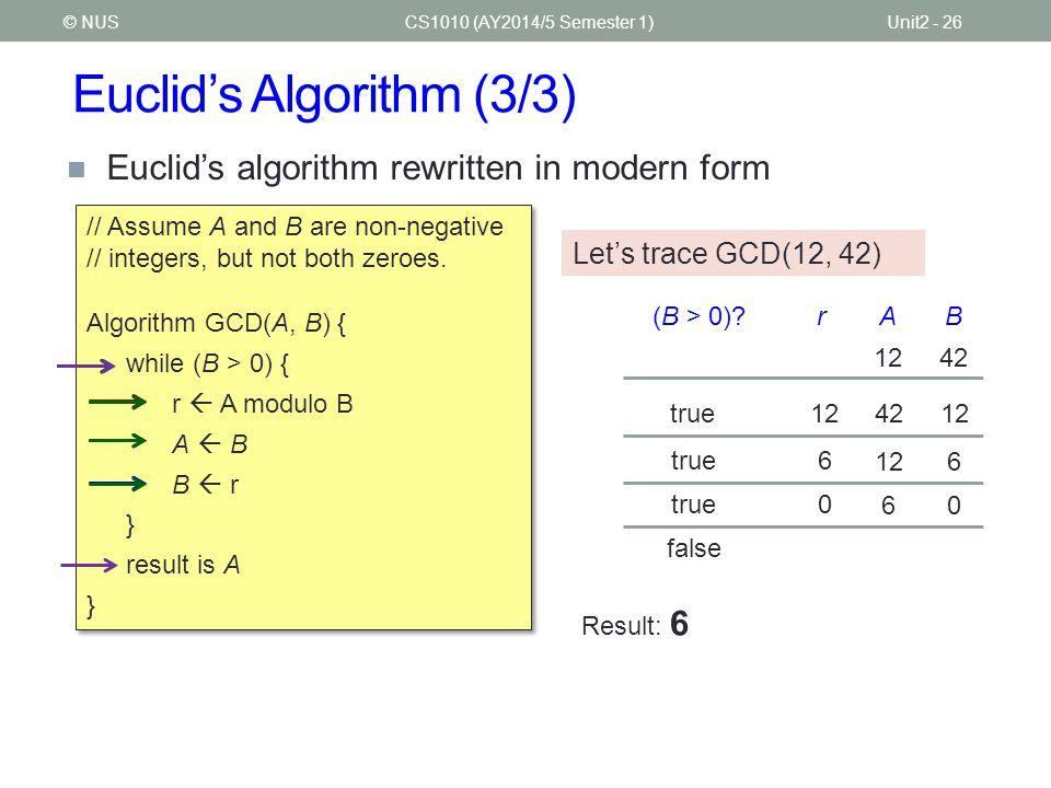 Euclid's Algorithm (3/3)