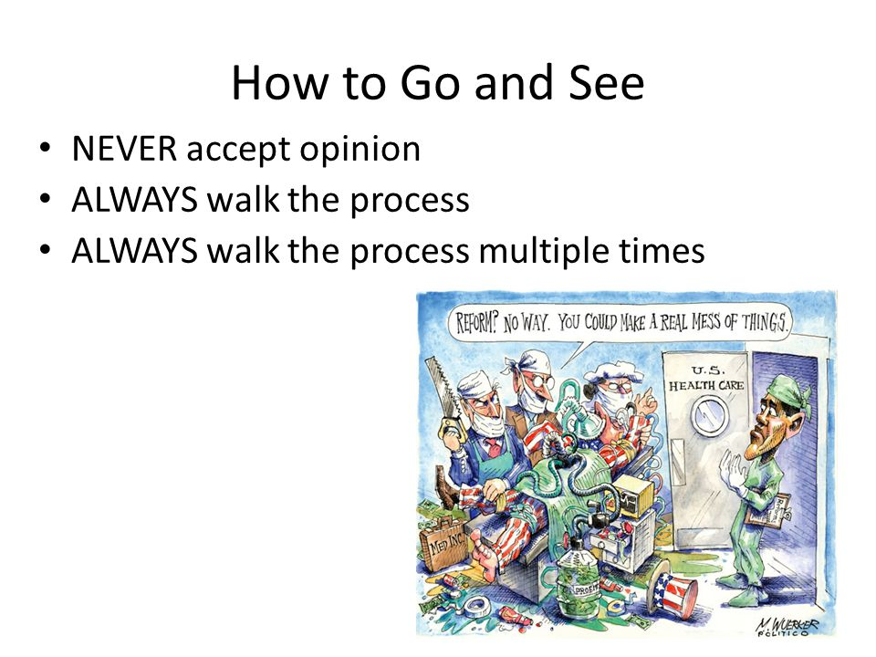 How to Go and See NEVER accept opinion ALWAYS walk the process
