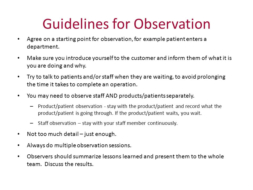 guidelines for completing the observations of Bbsm observation requirements observation guidelines observations, completing the observation form and turning it in to the site supervisor.