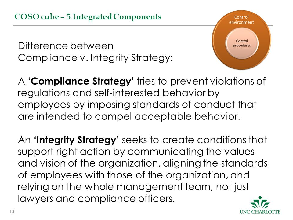 Compliance v. Integrity Strategy: