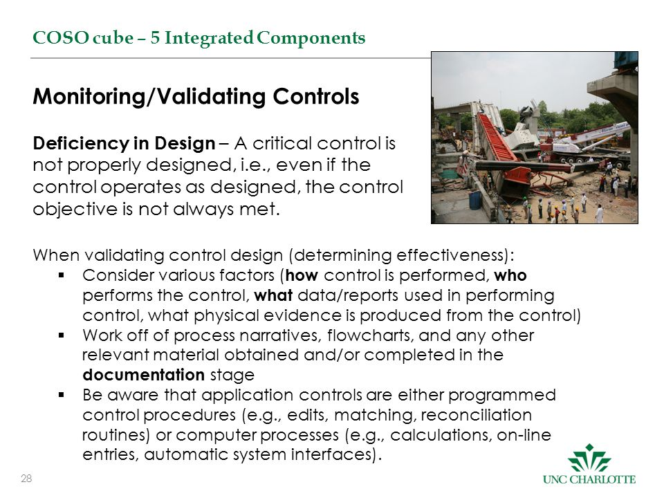 Monitoring/Validating Controls
