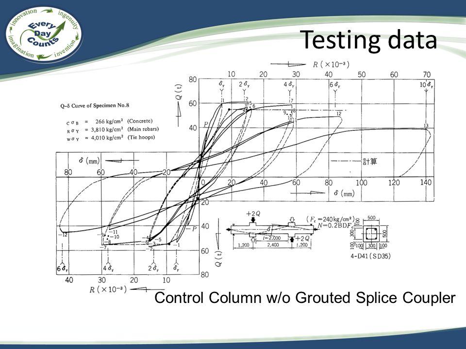 Control Column w/o Grouted Splice Coupler