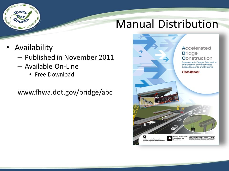 Manual Distribution Availability Published in November 2011