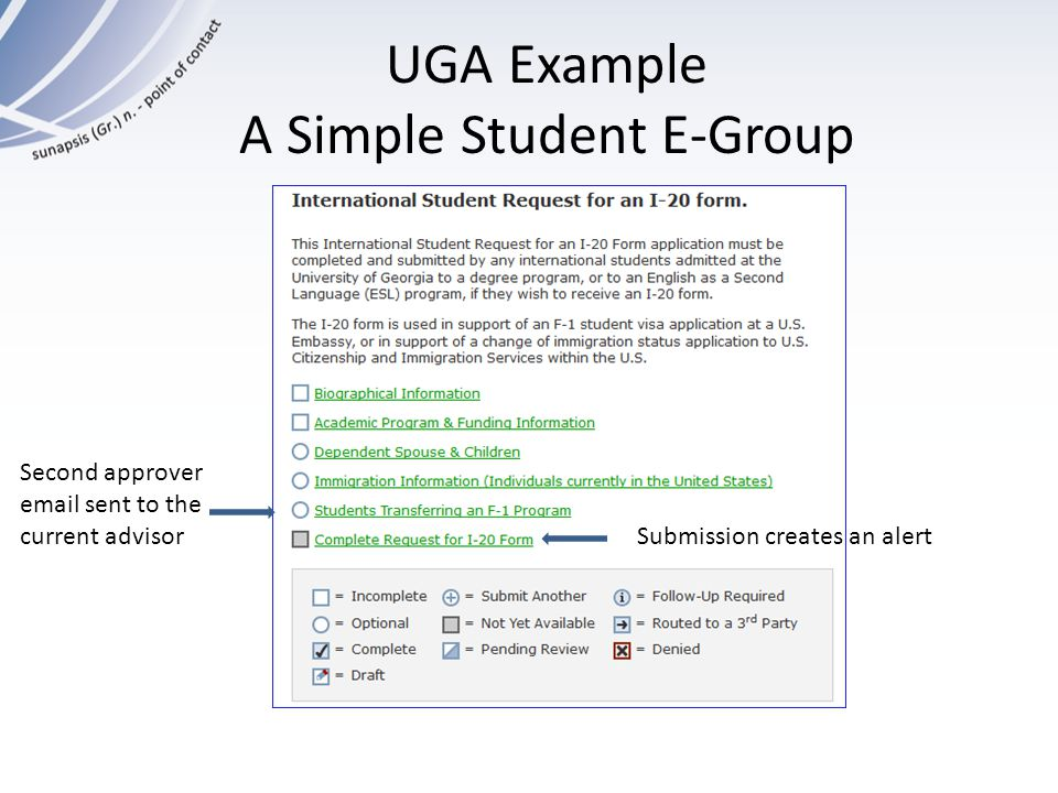 UGA Example A Simple Student E-Group
