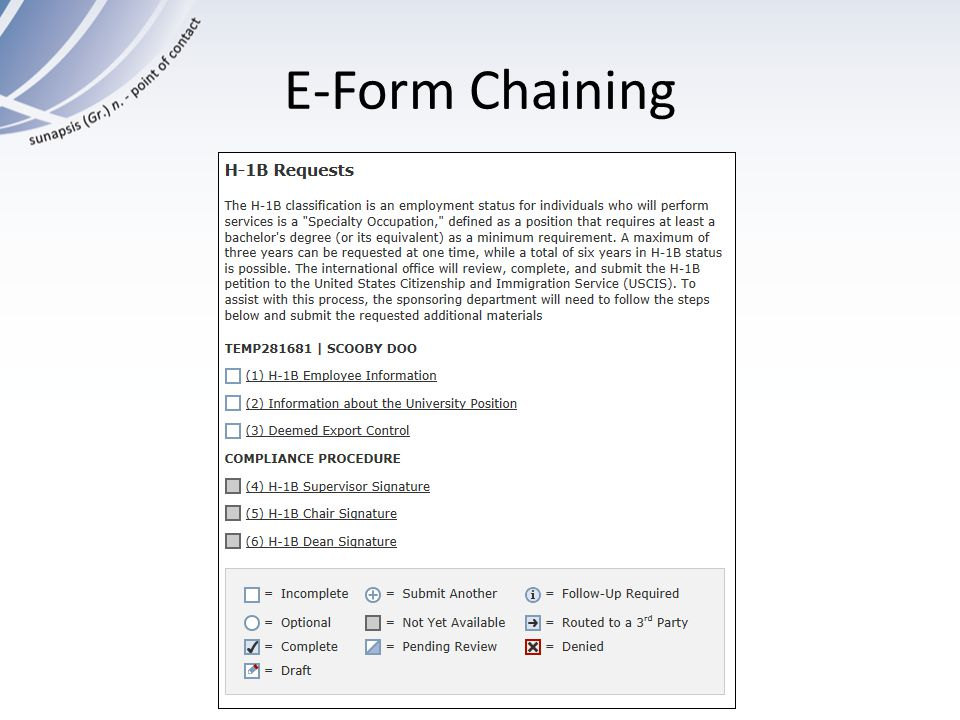 E-Form Chaining
